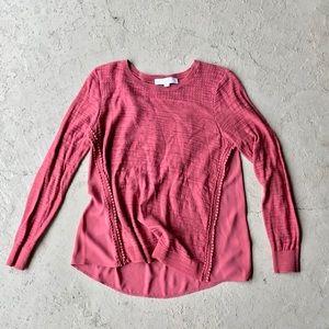 LOFT Multimedia Sweater - Mauve